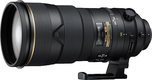 Nikon's AF-S NIKKOR 300mm f/2.8G ED VR II lens. Photo provided by Nikon Inc. Click for a bigger picture!