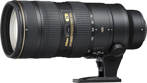 Nikon's AF-S NIKKOR 70-200mm f/2.8G ED VR II lens. Photo provided by Nikon Inc. Click for a bigger picture!