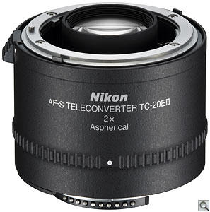 Nikon's AF-S TC20E III 2x Teleconverter. Photo provided by Nikon Inc. Click for a bigger picture!