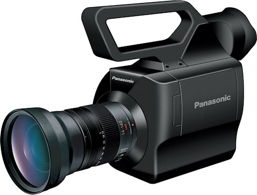 The AG-AF100 AVCCAM HD camcorder features a Micro Four Thirds lens mount. Photo provided by Panasonic Solutions Co. Click for a bigger picture!