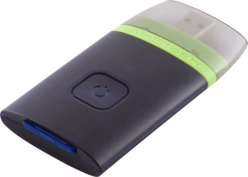 The AirStash wireless flash drive. Photo provided by Wearable Inc. Click for a bigger picture!