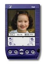 Club Photo's Album To Go v2.0 software on the Handspring Visor PDA. Courtesy of Club Photo Inc.