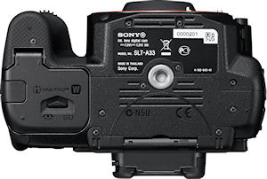 Sony's Alpha SLT-A33 digital SLR. Photo provided by Sony Electronics Inc. Click for a bigger picture!