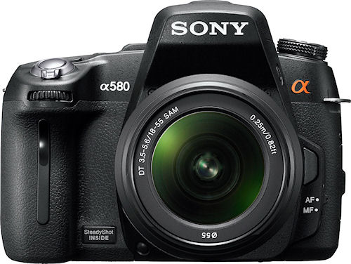 Sony's Alpha DSLR-A580 digital SLR will be available in the US this November. Photo provided by Sony Electronics Inc. Click for a bigger picture!
