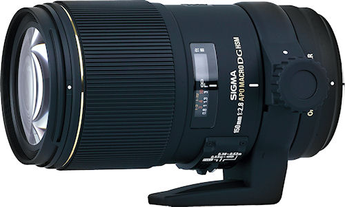 The Sigma APO MACRO 150mm F2.8 EX DG OS HSM lens. Photo provided by Sigma Corp. of America. Click for a bigger picture!