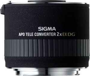 Sigma's APO Tele Converter 2x EX DG for Sony. Courtesy of Sigma, with modifications by Michael R. Tomkins. Click for a bigger picture!