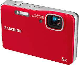 Samsung's AQ100 digital camera. Photo provided by Samsung Electronics America Inc. Click for a bigger picture!