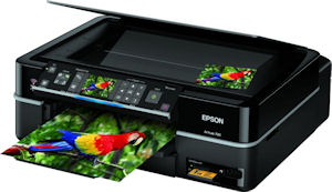 Epson's Artisan 700 all-in-one. Courtesy of Epson, with modifications by Michael R. Tomkins. Click for a bigger picture!