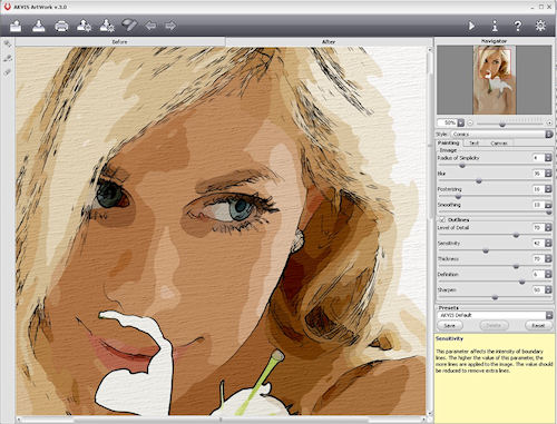 AKVIS Artwork v3.0, another example of the Comics effect in use. Screenshot provided by AKVIS Software Inc. Click for a bigger picture!