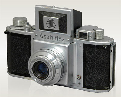 In 1952, the Asahiflex became Japan's first 35mm SLR. Photo provided by Pentax Imaging Co.