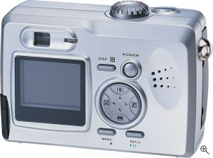 UMAX's AstraPix 630 digital camera. Courtesy of UMAX, with modifications by Michael R. Tomkins. Click for a bigger picture!