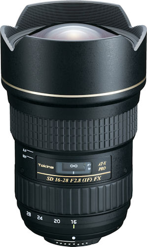 The Tokina AT-X 16-28 F2.8 PRO FX lens. Photo provided by Tokina Corp. Click for a bigger picture!