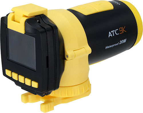 The shockproof, waterproof Oregon Scientific ATC9K records HD video and five megapixel stills, and can record geolocation data with an optional accessory. Photo provided by Integrated Display Technology Ltd. Click for a bigger picture!
