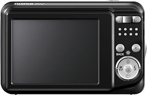 Fujifilm's FinePix AV100 digital camera. Photo provided by Fujifilm North America Corp. Click for a bigger picture!