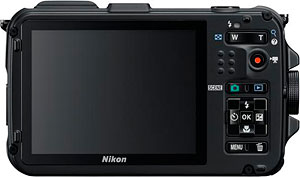Nikon's AW100 digital camera. Photo provided by Nikon Inc. Click for a bigger picture!