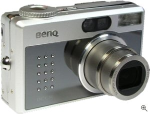 BenQ's DC-C50 digital camera. Courtesy of BenQ, with modifications by Michael R. Tomkins. Click for a bigger picture!