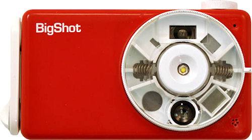 Front view of the BigShot digital camera. Photo provided by the Computer Vision Laboratory, Columbia University.