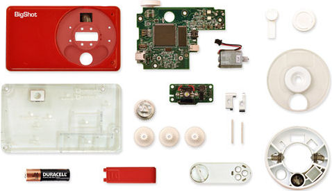 Component parts of the BigShot digital camera. Photo provided by the Computer Vision Laboratory, Columbia University.