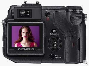 Olympus' C-5050Z digital camera. Courtesy of Olympus Europe, with modifications by Michael R. Tomkins. Click for a bigger picture!