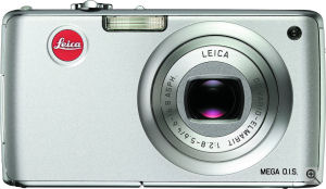 Leica's C-Lux 1 digital camera. Courtesy of Leica, with modifications by Michael R. Tomkins. Click for a bigger picture!