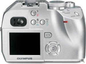 Olympus C-5000 Zoom digital camera. Courtesy of Olympus, with modifications by Michael R. Tomkins. Click for a bigger picture!