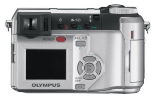 Olympus' C-740 Ultra Zoom digital camera. Courtesy of Olympus, with modifications by Michael R. Tomkins. Click for a bigger picture!