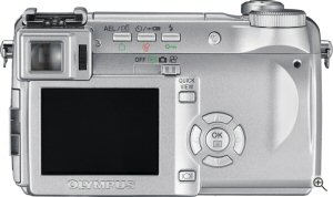 Olympus' C-770 Ultra Zoom digital camera. Courtesy of Olympus, with modifications by Michael R. Tomkins. Click for a bigger picture!