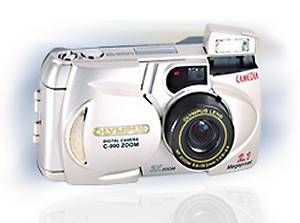Olympus' C-990 ZOOM, the European version of the D-490 ZOOM digital camera