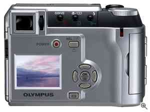 Olympus' Camedia C-700 UltraZoom digital camera,  rear view. Courtesy of Olympus. Click for a bigger picture!
