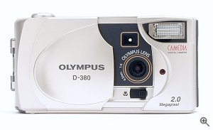 Olympus' Camedia D-380 digital camera. Copyright © 2002, The Imaging Resource. All rights reserved.
