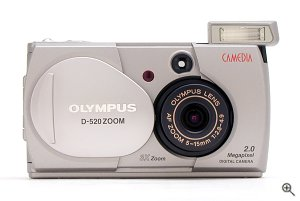 Olympus' Camedia D-520 Zoom digital camera. Copyright © 2002, The Imaging Resource. All rights reserved.
