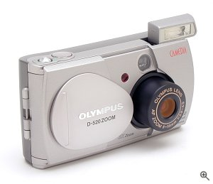Olympus' Camedia D-520 digital camera. Copyright © 2002, The Imaging Resource. All rights reserved.