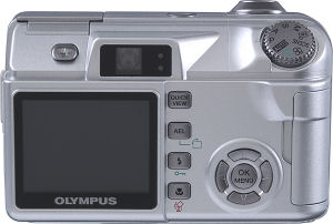 Olympus' Camedia C-5500 Sport Zoom digital camera. Courtesy of Olympus, with modifications by Michael R. Tomkins. Click for a bigger picture!