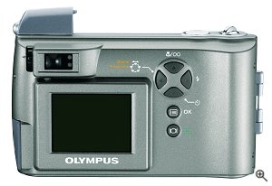 Olympus' Camedia D-550 Zoom digital camera. Courtesy of Olympus, with modifications by Michael R. Tomkins.
