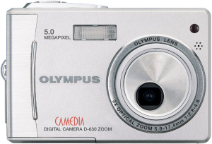 Olympus' Camedia D-630 Zoom digital camera. Courtesy of Olympus, with modifications by Michael R. Tomkins. Click for a bigger picture!