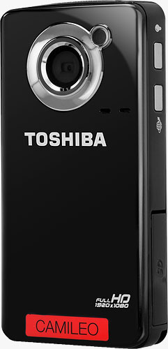 Toshiba's CAMILEO B10 camcorder. Photo provided by Toshiba Corp. Click for a bigger picture!
