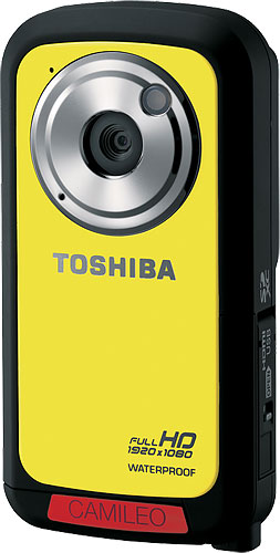 The Toshiba CAMILEO BW10 camcorder. Photo provided by Toshiba America Information Systems, Inc. Click for a bigger picture!