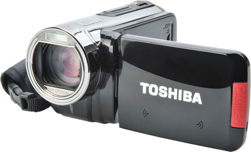Toshiba's Camileo X100 digital camcorder. Photo provided by Toshiba UK. Click for a bigger picture!