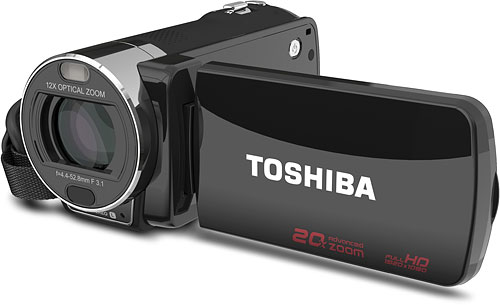 Toshiba's Camileo X200 camcorder. Photo provided by Toshiba America Information Systems Inc. Click for a bigger picture!