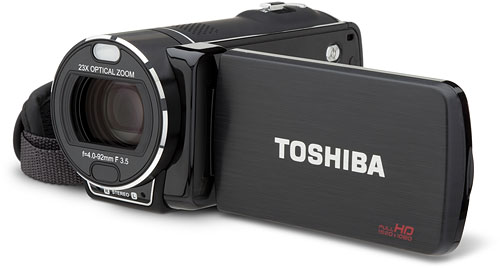 Toshiba's Camileo X416 camcorder. Photo provided by Toshiba America Information Systems Inc. Click for a bigger picture!