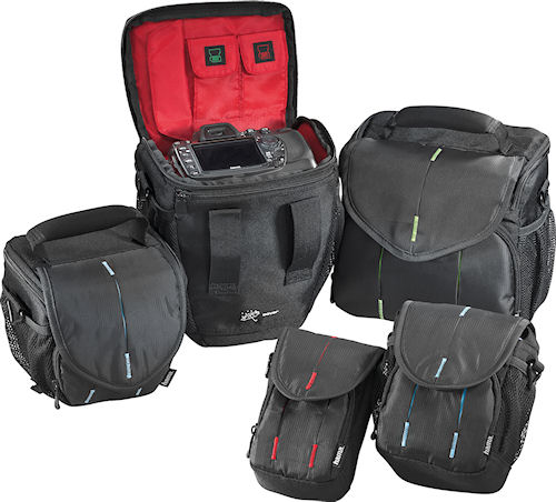 Hama's Canberra camera bags, group shot. Photo provided by Hama GmbH & Co KG. Click for a bigger picture!