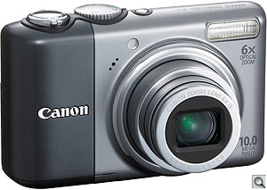 Canon PowerShot A2000 IS digital camera. Courtesy of Canon, with modifications by Zig Weidelich. Click for a bigger picture!