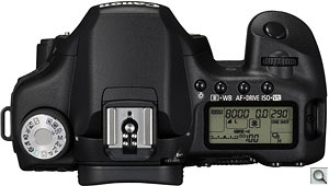 Canon EOS 50D digital SLR. Courtesy of Canon, with modifications by Zig Weidelich. Click for a bigger picture!