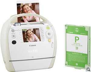 Canon Selphy ES3 printer. Courtesy of Canon, with modifications by Zig Weidelich. Click for a bigger picture!