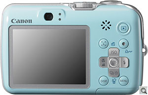 Canon PowerShot E-1 digital camera. Courtesy of Canon, with modifications by Zig Weidelich. Click for a bigger picture!