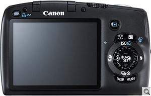 Canon PowerShot SX110 IS digital camera. Courtesy of Canon, with modifications by Zig Weidelich. Click for a bigger picture!