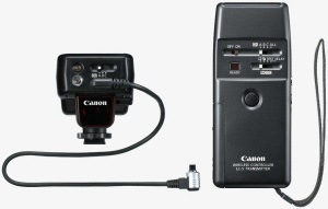 Canon's LC-5 Wireless Transmitter. Courtesy of Canon, with modifications by Michael R. Tomkins. Click for a bigger picture!