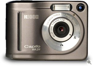 Ricoh's Caplio RR211 digital camera. Courtesy of Ricoh Europe, with modifications by Michael R. Tomkins. Click here for a bigger picture!