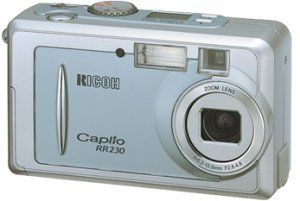 Ricoh's Caplio RR230 digital camera. Courtesy of Ricoh, with modifications by Michael R. Tomkins.
