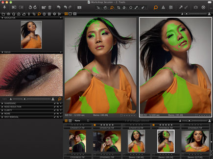 Capture One 5 PRO's new Focus Mask tool. Screenshot provided by Phase One A/S.